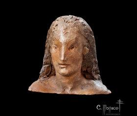Piccola testa di giovane etrusco